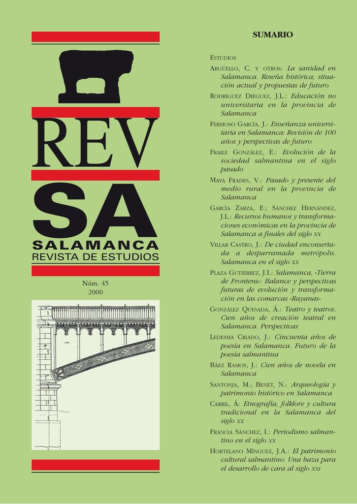 Cincuenta años de poesía en Salamanca. Futuro de la poesía salmantina