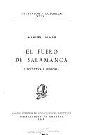 El fuero de Salamanca: lingüística e historia