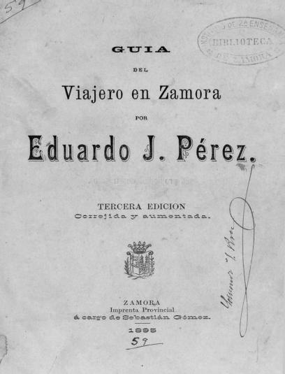 Guía del viajero en Zamora