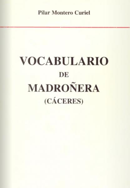 Vocabulario de Madroñera (Cáceres)