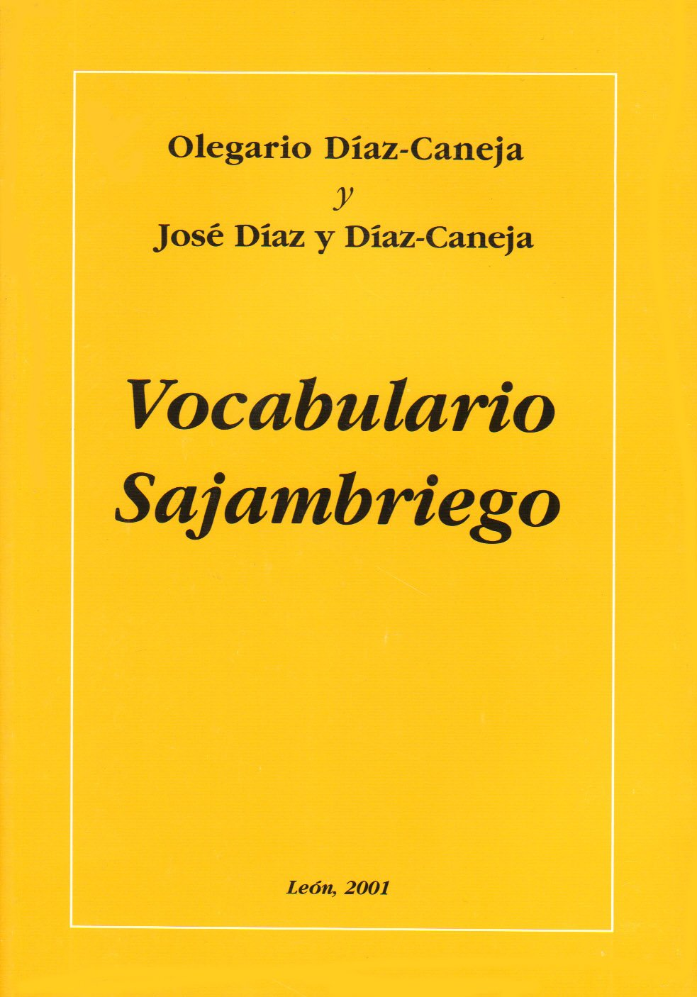 Vocabulario sajambriego