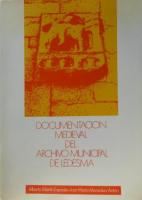 Catálogo de la documentación medieval del Archivo Municipal de Ledesma