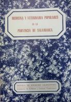 Medicina y veterinaria populares en la provincia de Salamanca