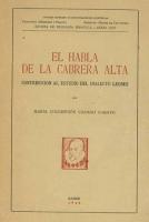 El habla de la Cabrera Alta. Contribución al estudio del dialecto leonés
