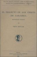 El dialecto de San Ciprián de Sanabria