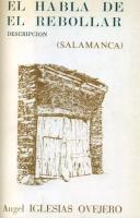 El habla de El Rebollar (Salamanca): Léxico