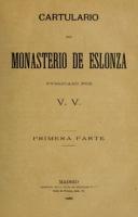 Cartulario del monasterio de Eslonza