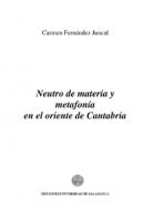 Neutro de materia y metafonía en el oriente de Cantabria