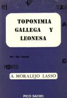 Toponimia Gallega y Leonesa