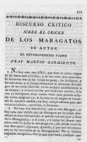 Discurso crítico sobre el origen de los maragatos