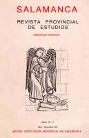 El testamento de Isabel de Solís (1617) y algunos aspectos de la historia y de la religiosidad de Salamanca. Primer cuarto del siglo XVII