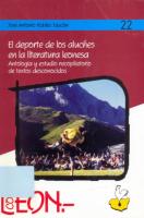 El deporte de los aluches en la literatura leonesa: antología y estudio recopilatorio de textos desconocidos