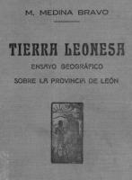 Tierra leonesa: ensayo geográfico sobre la provincia de León