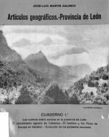 Artículos geográficos sobre la provincia de León
