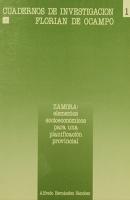 Zamora: elementos socio-económicos para una planificación provincial