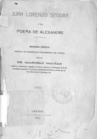 Juan Lorenzo Segura y el Poema de Alexandre