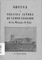 Novena a Nuestra Señora de Campo Sagrado de las montañas de León