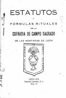 statutos y fórmulas rituales de la Cofradía de Campo Sagrado de las montañas de León